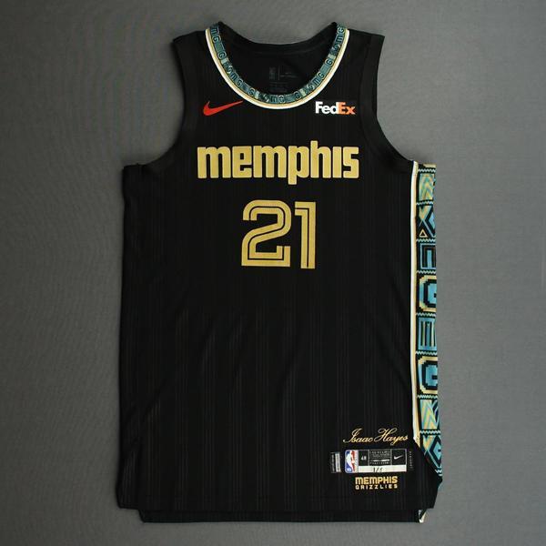 Image of Tyus Jones - Memphis Grizzlies - Game-Worn City Edition Jersey - 2020-21 NBA Season