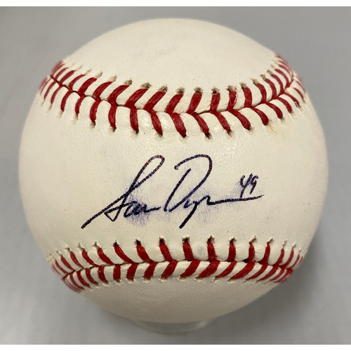 Photo of Giants Community Fund - Smudged Autographed Baseball signed by #49 Sam Dyson