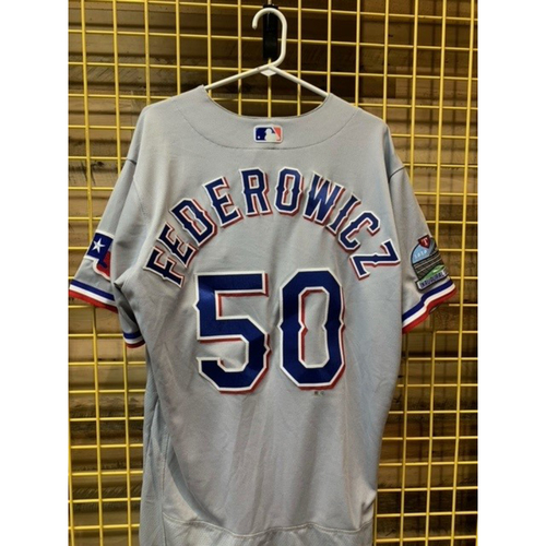 Photo of Team-Issued Tim Federowicz Gray Jersey