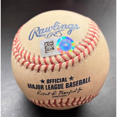 Photo of Game-Used Baseball:  Whit Merrifield Single Kansas City Royals Single  (MLB AUTHENTICATED)