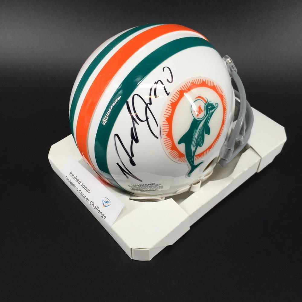 Dolphins - Reshad Jones Signed Mini Helmet