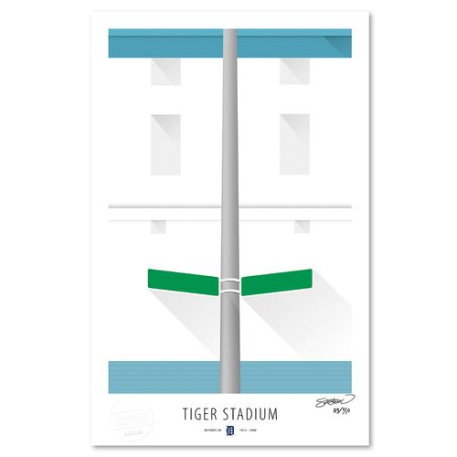 Photo of Tiger Stadium - Collector's Edition Minimalist Art Print by S. Preston Limited Edition /350  -Detriot Tigers
