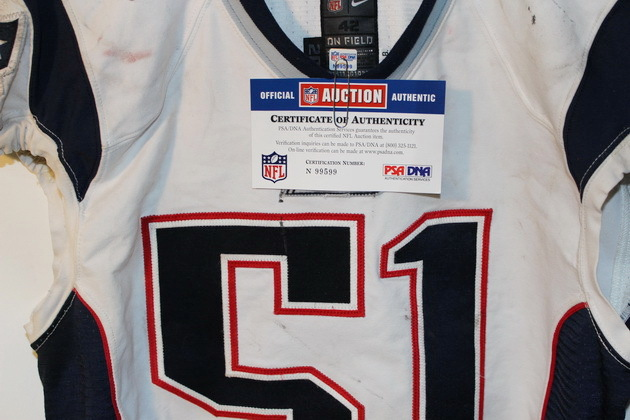 NFL Auction | PATRIOTS JEROD MAYO GAME WORN JERSEY (OCTOBER 6, 2013)