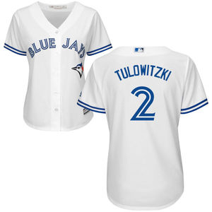 Toronto Blue Jays Women's Troy Tulowitzki Replica Home Jersey by Majestic