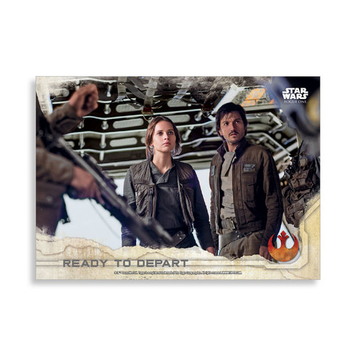 Ready to Depart 2016 Star Wars Rogue One Series One Base Poster - # to 99