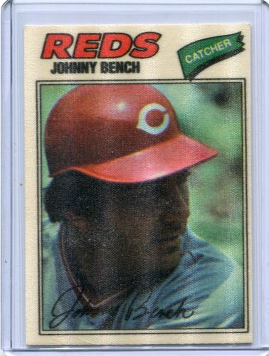 Photo of 1977 Topps Cloth Stickers #3 Johnny Bench