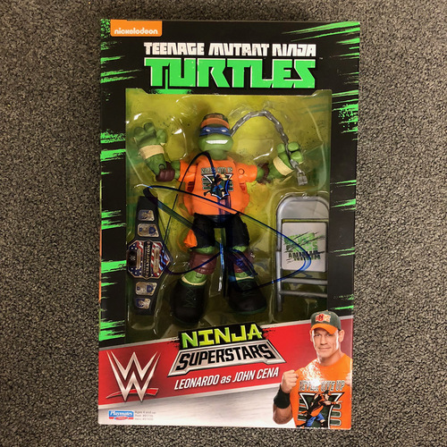 Photo of John Cena SIGNED TMNT Ninja Super Stars Figure
