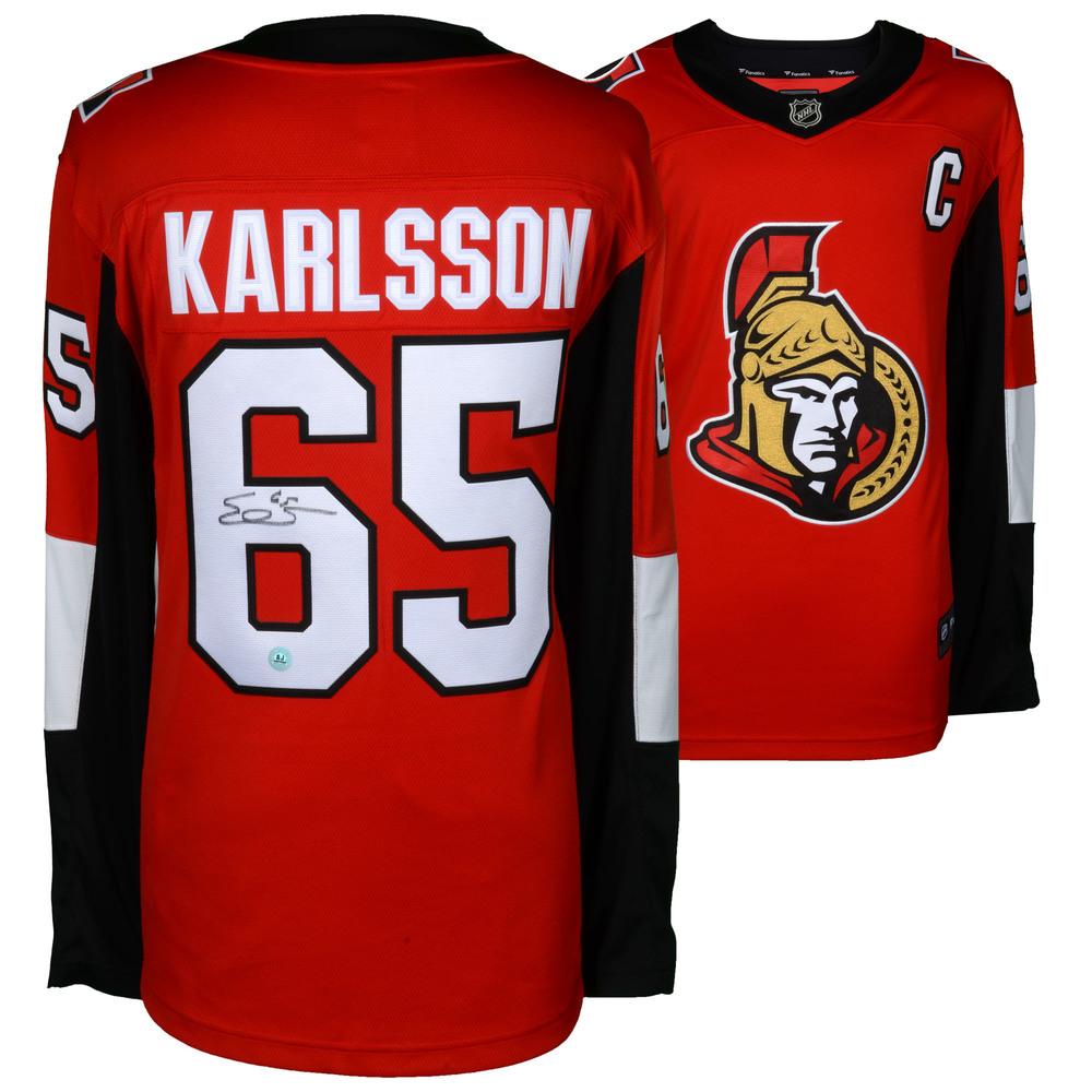 Erik Karlsson Ottawa Senators Autographed Red Fanatics Breakaway Jersey