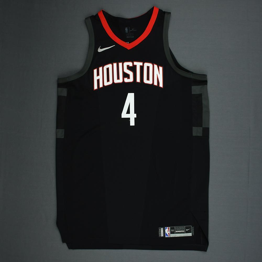 334ee6597 PJ Tucker - Houston Rockets - 2018 NBA Playoffs Game-Worn  Statement  Jersey