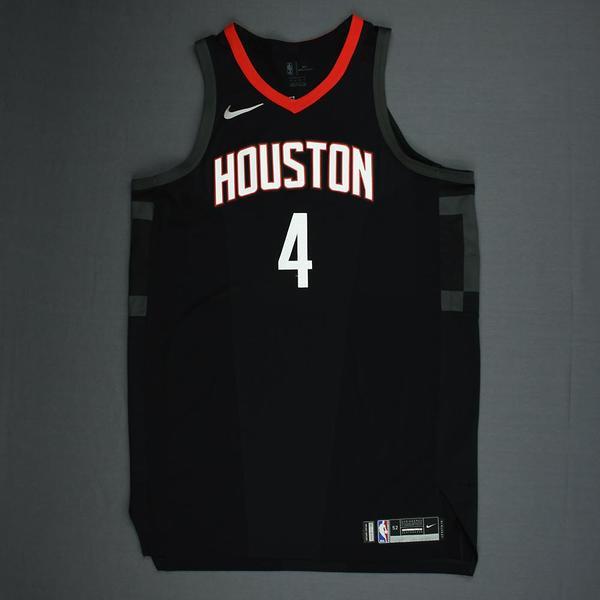 9120984eb4c PJ Tucker - Houston Rockets - 2018 NBA Playoffs Game-Worn  Statement  Jersey