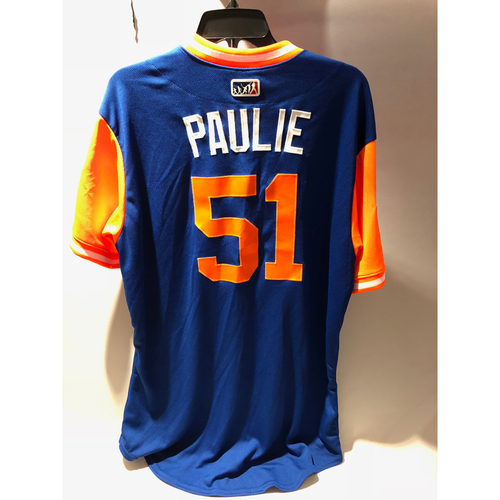 "Photo of New York Mets 2018 Little League Classic Game-Used Jersey - Paul ""Paulie"" Sewald - 8/19/2018"