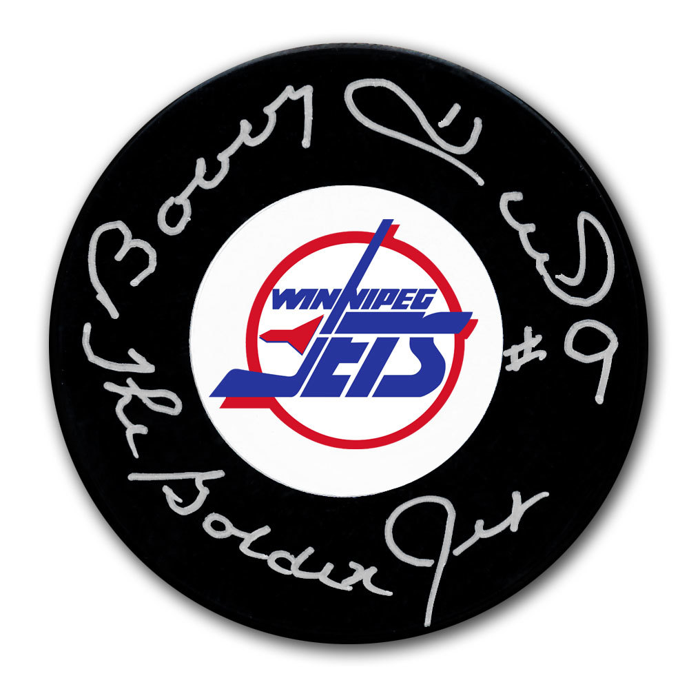 Bobby Hull Winnipeg Jets The Golden Jet Autographed Puck