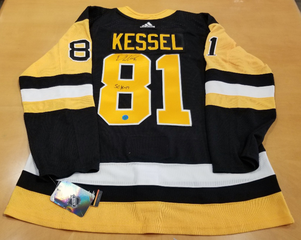 Phil Kessel Pittsburgh Penguins Autographed Adidas Authentic Hockey Jersey w/ SC 16-17 Note