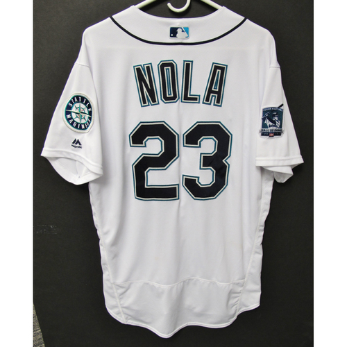Photo of Seattle Mariners 2019 Austin Nola Game-Used Jersey - Edgar Martinez Hall of Fame Celebration Weekend - August 9-11