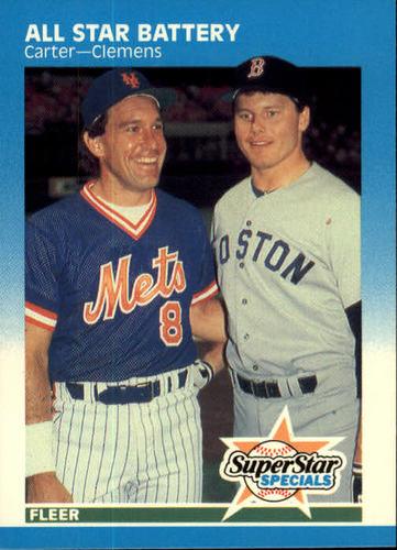 Photo of 1987 Fleer #634 Gary Carter/Roger Clemens