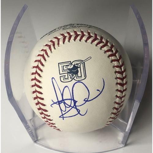 Photo of Fernando Tatis Jr. Autographed Padres 50th Anniversary Baseball
