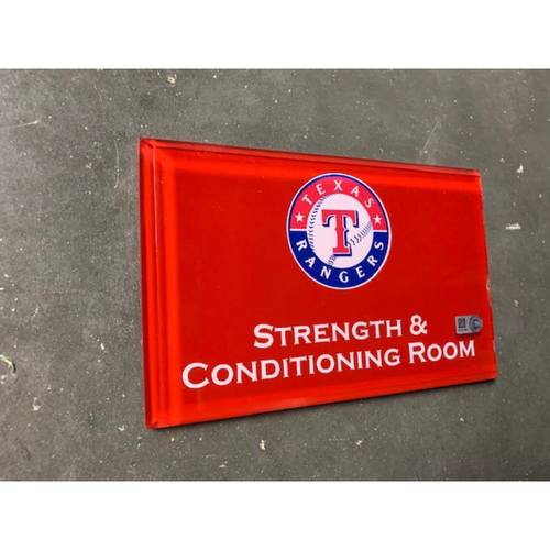 Photo of Home Clubhouse Door Sign - STRENGTH AND CONDITIONING ROOM