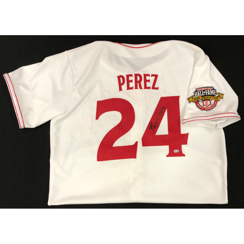 Photo of Tony Perez - AUTOGRAPHED Game Used Jersey: Reds Hall of Fame Legends Game - Coaching Staff