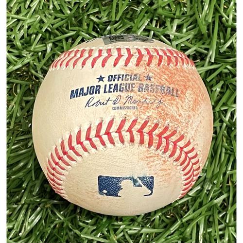 Photo of Game Used Baseball: Aaron Judge RBI single off Pete Fairbanks - Gio Urshela Scores - Top 10 - July 28, 2021 v NYY