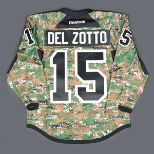 10b0a6ea246 Michael Del Zotto - Philadelphia Flyers - Military Appreciation Warmup-Worn  Autographed Jersey