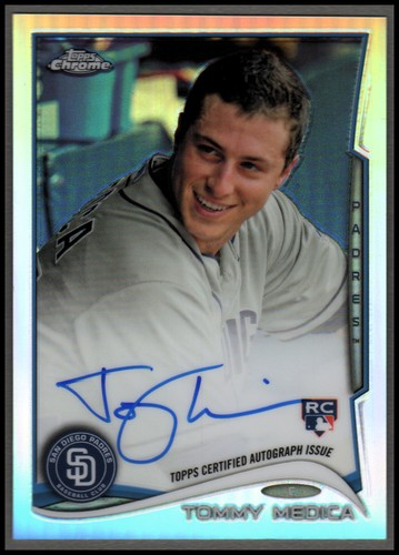 Photo of 2014 Topps Chrome Rookie Autographs Refractors #198 Tommy Medica