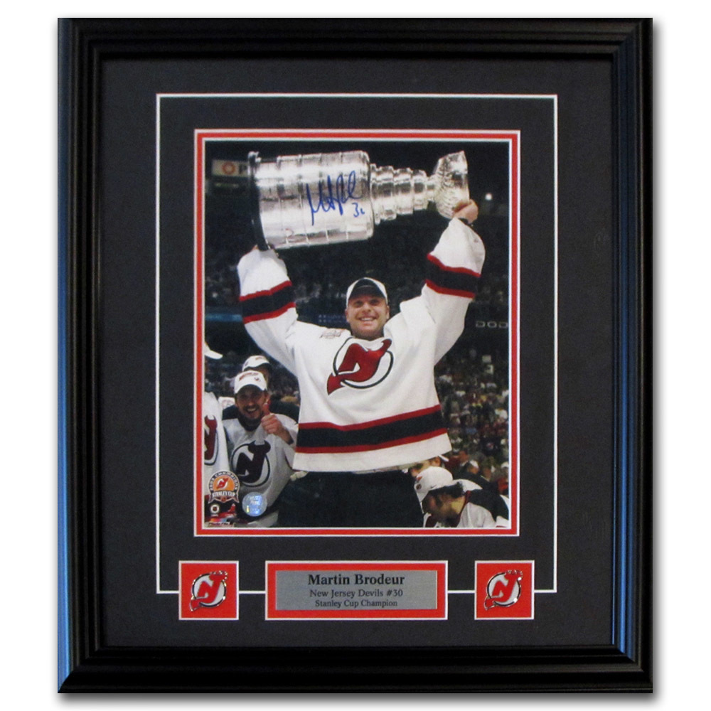 Martin Brodeur Autographed New Jersey Devils Framed 8X10 Photo