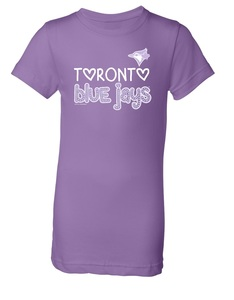 Toronto Blue Jays Youth Sequin T-Shirt Lavender by Soft As a Grape