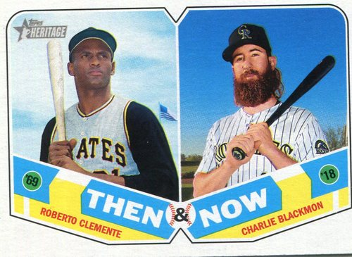 Photo of 2018 Topps Heritage Then and Now #TN10 Charlie Blackmon/Roberto Clemente