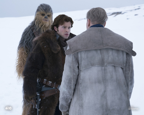 Beckett, Han Solo, and Chewbacca