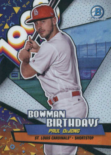 Photo of 2018 Bowman Chrome Bowman Birthdays Refractors #BBPD Paul DeJong