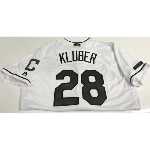 Photo of Corey Kluber Team-Issued 2018 Memorial Day Jersey