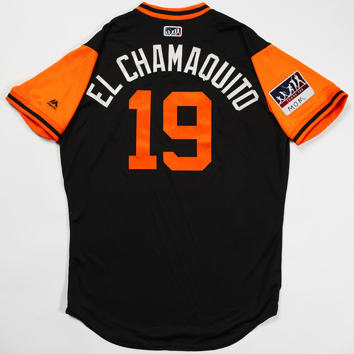 "Photo of Alen ""El Chamaquito"" Hanson San Francisco Giants Game-Used 2018 Players' Weekend Jersey"