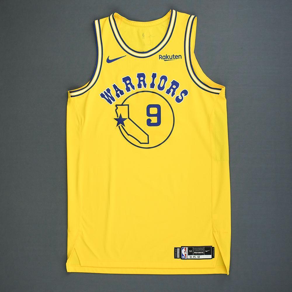 pretty nice 0eae1 eea1d Andre Iguodala - Golden State Warriors - Game-Worn Classic ...
