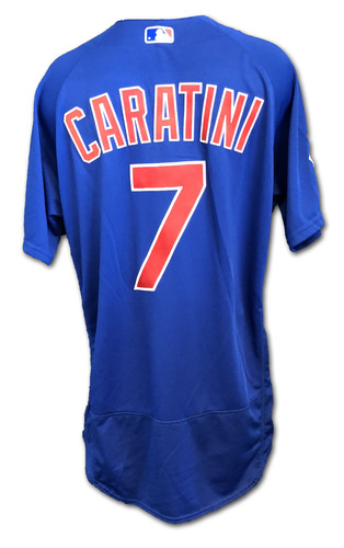 Photo of Victor Caratini Game-Used Jersey -- Cubs at Rangers; 3/31/19 -- Cubs at Cardinals; 9/29/19 -- Size 46