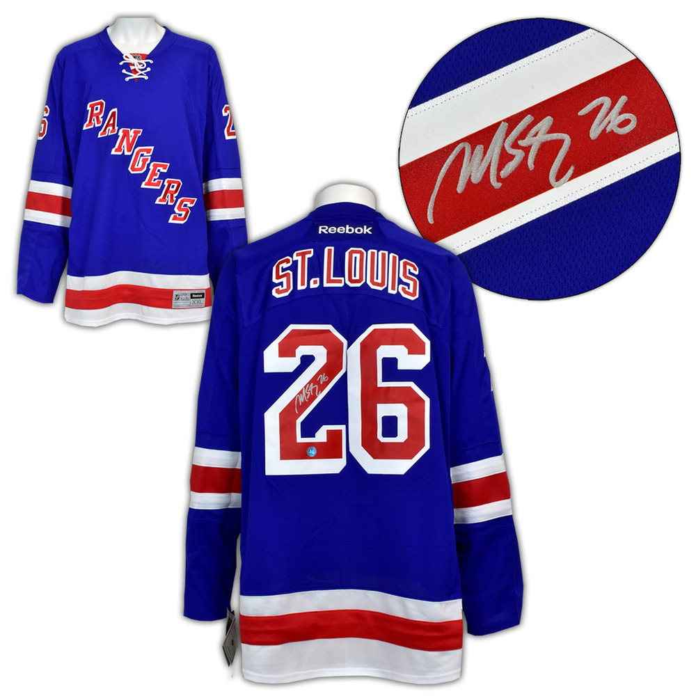 Martin St. Louis New York Rangers Autographed Reebok Premier Hockey Jersey