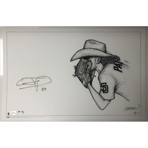 Photo of Chris Paddack Autographed S. Preston 11x17 Print
