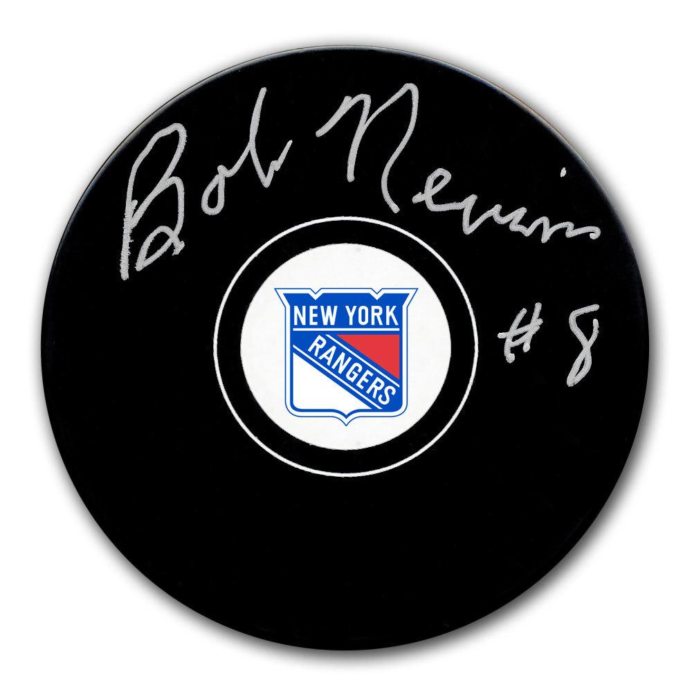 Bob Nevin New York Rangers Autographed Puck