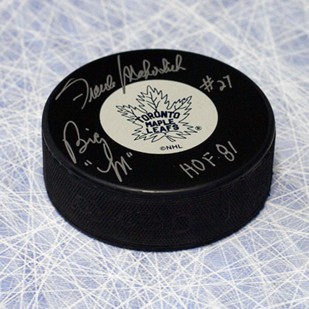 Frank Mahovlich Toronto Maple Leafs Autographed & Inscribed Hockey Puck