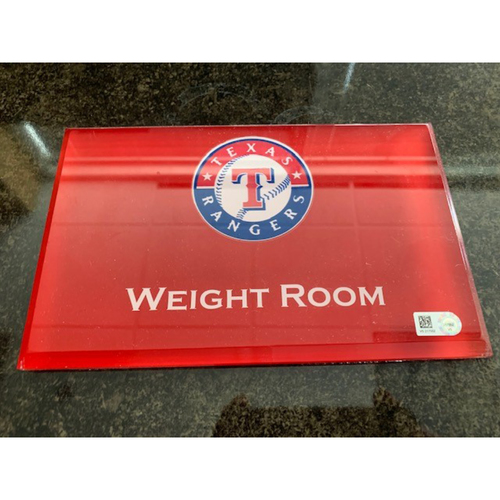Photo of Home Clubhouse Door Sign - WEIGHT ROOM