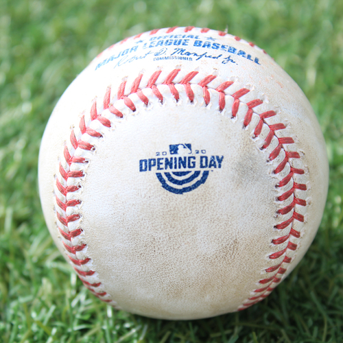 Game-Used Opening Day Baseball: Batter - Mondesi, Pitcher - Keuchel, Single, Bottom 3 (7/31/20 CWS @ KC)