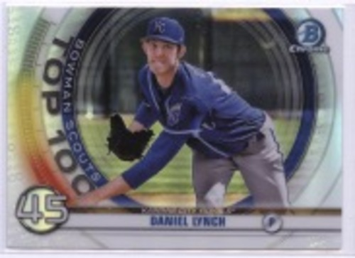 Photo of 2020 Bowman Chrome Scouts Top 100 #BTP45 Daniel Lynch