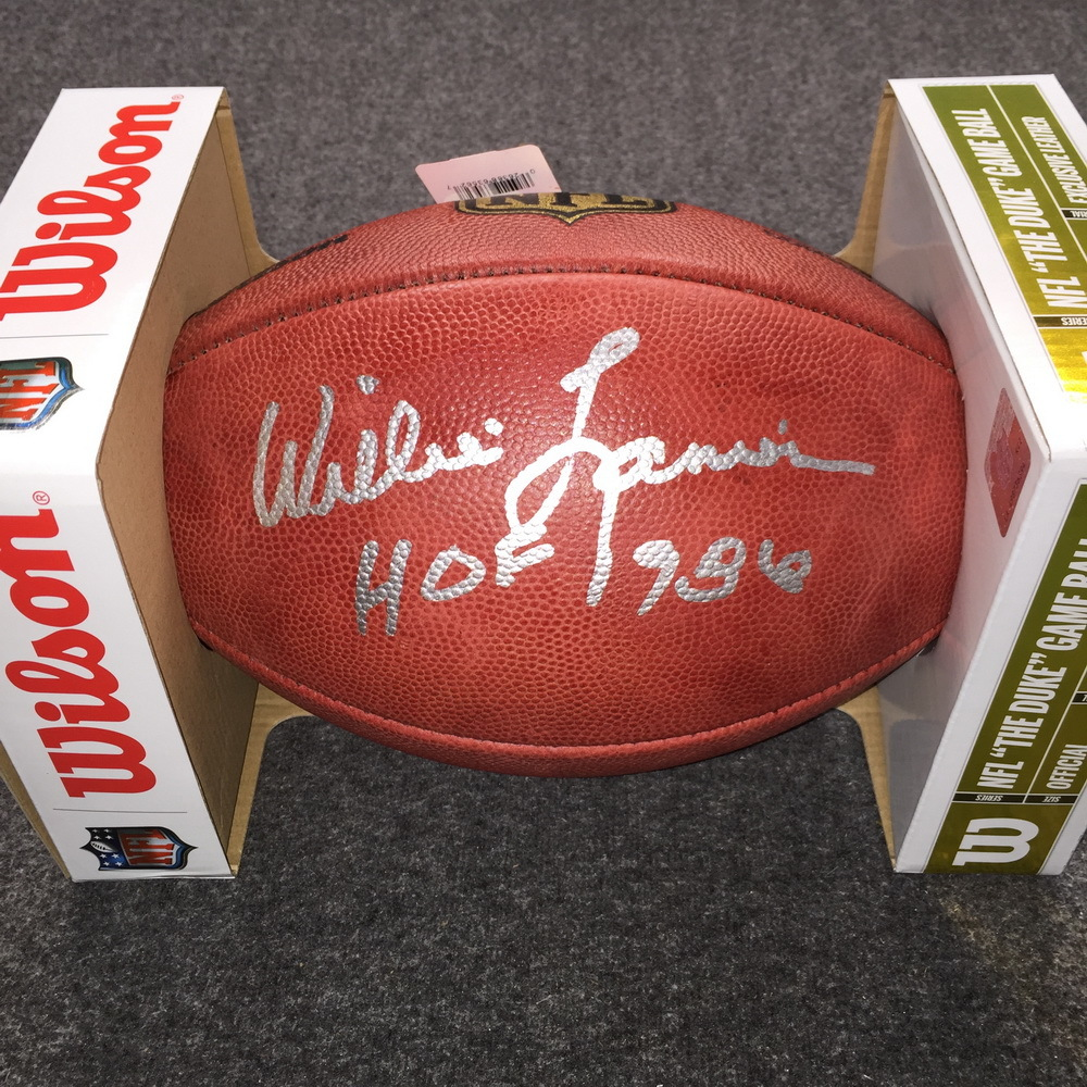 NFL - Chiefs Willie Lanier signed authentic football