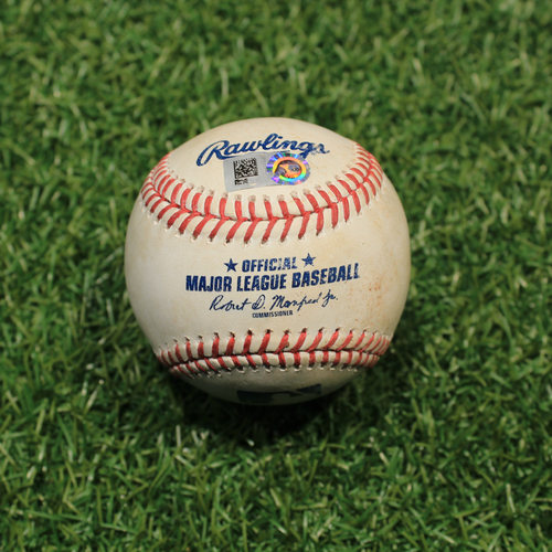 Photo of Game-Used Baseball: Maikel Franco 645th Career Hit, 381st Career RBI (9/26/20 DET @ KC)