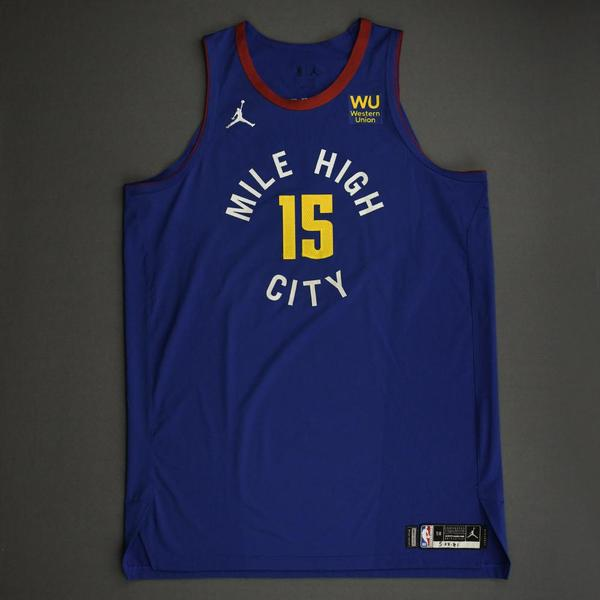 Image of Nikola Jokic - Denver Nuggets - Game-Worn Statement Edition Jersey - Recorded a 34-Point Double-Double - 2021 NBA Playoffs