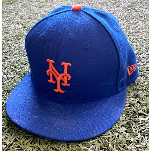 Photo of Marcus Stroman - Game Used Hat - 6.1 IP, 1 ER, 5 K's, ND - Mets vs. Orioles - 5/11/21