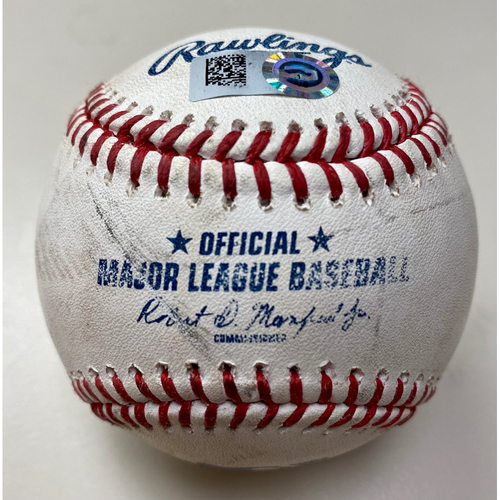 Photo of Game-Used Baseball:  Miguel Cabrera Detroit Tigers Walk (MLB AUTHENTICATED)