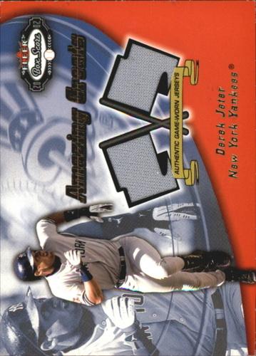 Photo of 2002 Fleer Box Score Amazing Greats Dual Swatch #7 Derek Jeter