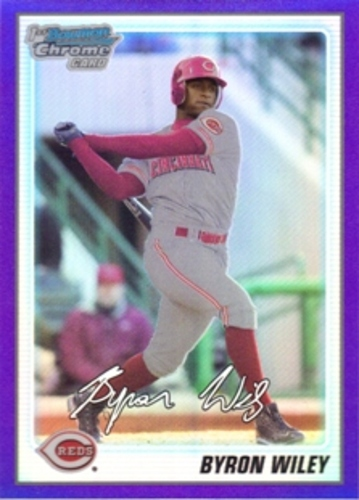 Photo of 2010 Bowman Chrome Prospects Purple Refractors #BCP24 Byron Wiley