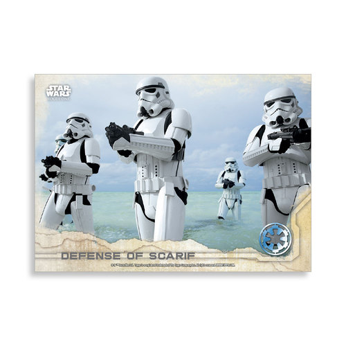 Defense of Scarif 2016 Star Wars Rogue One Series One Base Poster - # to 99