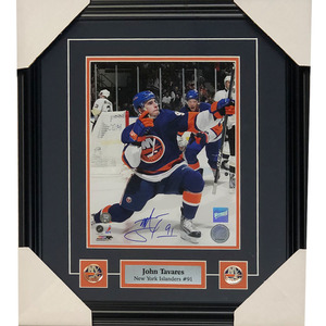 a8daaeac21c John Tavares Autographed New York Islanders Framed 8X10 PhotoJohn Tavares Autographed  New York Islanders Framed 8X10 Photo